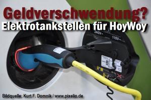 Geldverschwendung? Elektrotankstellen in Hoyerswerda.