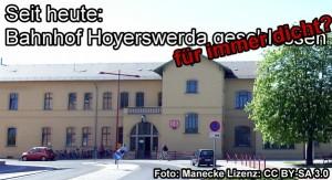 Seit heute: Bahnhof Hoyerswerda geschlossen - für immer?