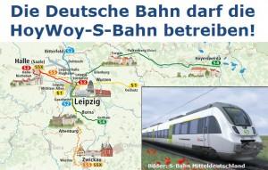 Die Deutsche Bahn darf die HoyWoy-S-Bahn betreiben!