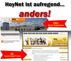 HoyNet ist aufregend ... anders! Die Wandlung vom Community-Portal zum News-Aggregator.