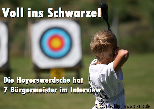 Voll ins Schwarze - Die Hoyerswerdsche hat 7 Bürgermeister im Interview!
