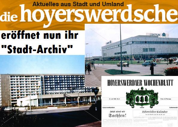 """Die Hoyerswerdsche.de eröffnet nun ihr """"Stadt-Archiv"""" mit vielen alten Fotos, Texten und mehr."""