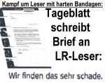 Kampf um Leser mit harten Bandagen: Tageblatt schreibt Brief an LR-Leser