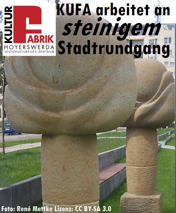 Die Hoyerswerdaer Kulturfabrik arbeitet an einem steinigen Stadtrundgang...