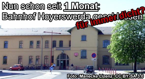 Jetzt schon seit 1 Monat dicht: Das Bahnhofsgebäude am Altstadt-Bahnhof!
