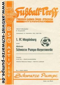 Das Programmheft zum Hoyerswerdaer Jahrhundertspiel.