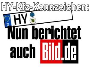HY-Kfz-Kennzeichen: Nun berichtet auch BILD