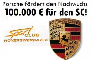 Porsche fördert den Nachwuchs: 100.000 € für den Sportclub!