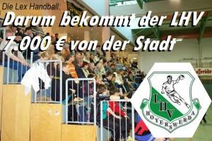 Die Lex Handball: Darum bekommt der LHV 7.000€ von der Stadt Hoyerswerda!