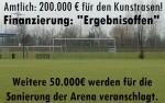 """Amtlich: 200.000 € für den Kunstrasen im Jahnstadion Hoyerswerda - doch die Finanzierung? """"Ergebnisoffen"""" - Weitere 50.000 € werden für die Sanierung der Arena veranschlagt."""