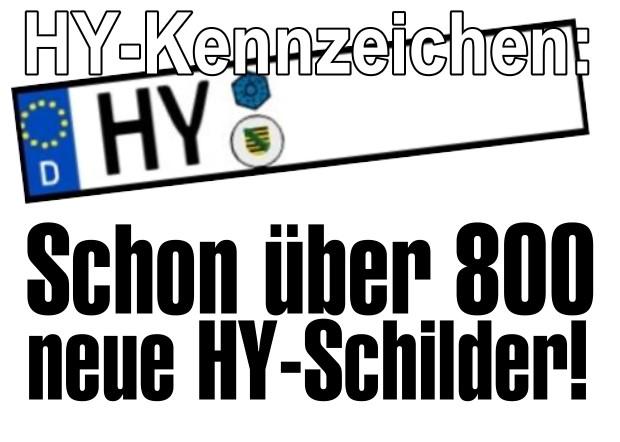 HY-Kfz-Kennzeichen: Schon über 800 neue HY-Schilder für Hoyerswerda!