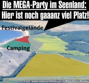 Die Mega-Party im Lausitzer Seenland: Hier ist noch gaaaanz viel Platz!