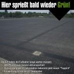 Hier sprießt bald wieder Grün: Sanierter Kunstrasen im Jahnstadion wird am 23.09. wiedereröffnet!