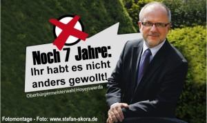 Noch 7 Jahren Stefan Skora für Hoyerswerda. Aber IHR habt es ja nicht anders gewollt. Der Souverän, der Wähler, hat entschieden!