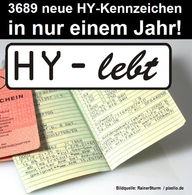 3689 neue HY-Kennzeichen in nur einem Jahr: Hoyerswerda lebt!