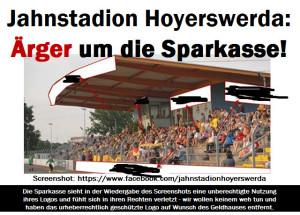 Jahnstadion Hoyerswerda: Ärger um die Sparkasse!