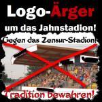 Logo-Ärger um das Jahnstadion in Hoyerswerda. Die Sparkasse fühlt sich in ihren Rechten verletzt.