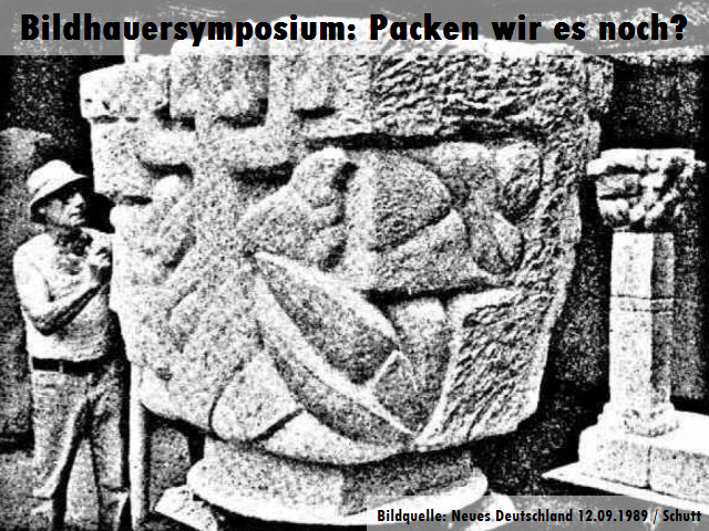 Bildhauersymposium in Hoyerswerda: Packen wir das noch?