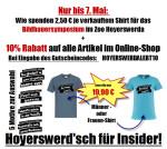 Jetzt die Aktion im Online-Klamotten-Laden nutzen, 10% Rabatt auch auf die Hoyerswerd'sch für Insider-Shirts und zugleich spenden wir für jedes verkaufte T-Shirt 2,50€ für das Bildhauersymposium im Zoo Hoyerswerda!