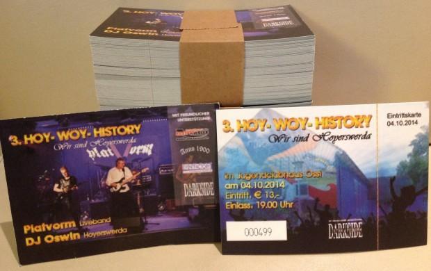 Das sind die begehrten Tickets für HoyWoy-History.
