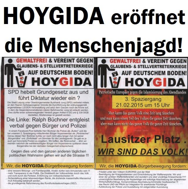 HOYGIDA eröffnet die Menschenjagd: Hoyerswerdaer Linke-Politiker Ziel der Attacken!
