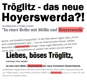 Tröglitz - das neue Hoyerswerda?!