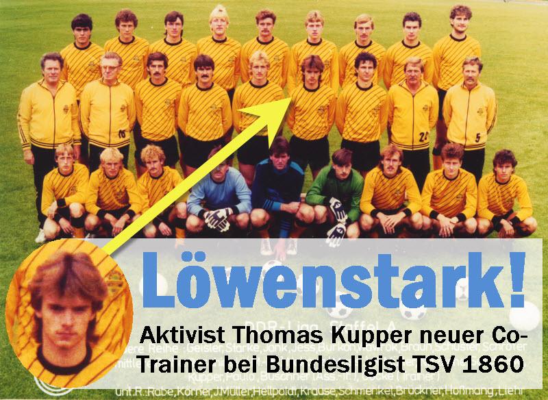 Löwenstark!  Aktivist Thomas Kupper neuer Co-Trainer bei Bundesligist TSV 1860 München!