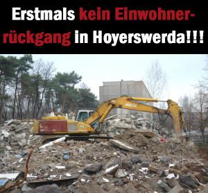 2015 erstmals kein Einwohnerrückgang in Hoyerswerda!