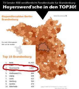 TV-Sender RBB veröffentlicht Pendlerstudie: Hoyerswerda in den TOP 3!