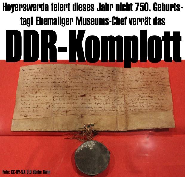Hoyerswerda feiert dieses Jahr nicht 750. Geburtstag! Ehemaliger Museums-Chef verrät das DDR-Komplott!