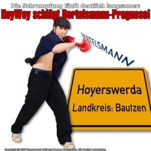 Die Schrumpfung läuft deutlich langsamer: HoyWoy schlägt Bertelsmann-Prognose!