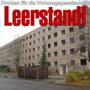 Problem für die Wohnungsgesellschaft Hoyerswerda: Leerstand!